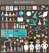 Big science set. Infographics. - 79539985