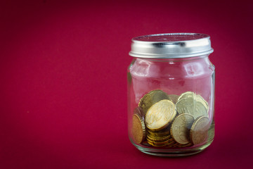 Little Jar with euro coins