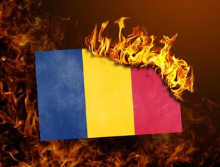 Flag burning - Romania