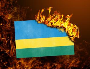 Flag burning - Rwanda