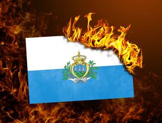 Flag burning - San Marino