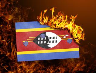 Flag burning - Swaziland