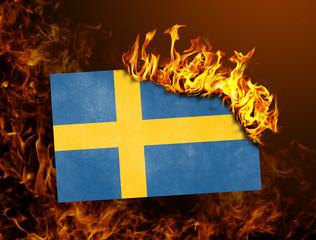 Flag burning - Sweden