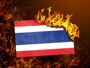 Flag burning - Thailand