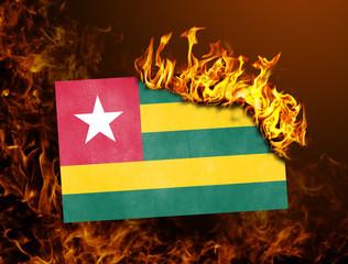 Flag burning - Togo
