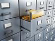 Leinwanddruck Bild - Filing cabinet
