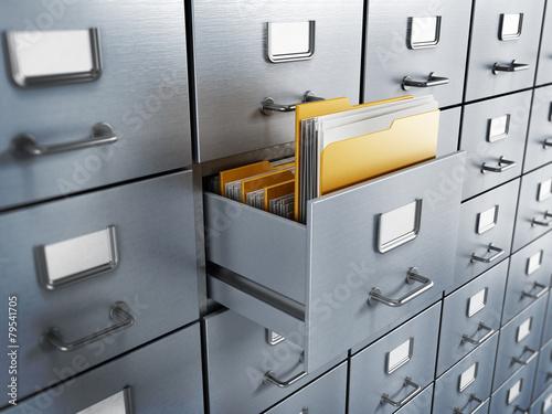 Leinwanddruck Bild Filing cabinet
