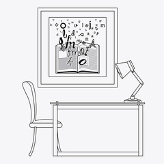 furniture design vector illustration.