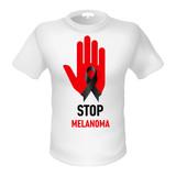 T-shirt stop melanoma poster