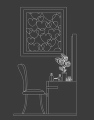 furniture design, vector illustration.