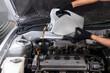 Leinwanddruck Bild - engine oil cap