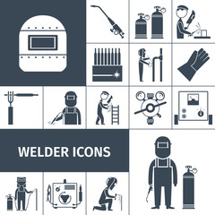 Welder Icons Black Set