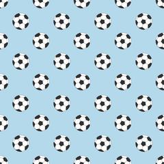 Footballs seamless pattern