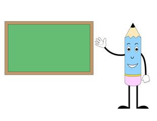 Happy Pencil with green board