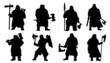 dwarf silhouettes - 79545388
