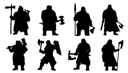 dwarf silhouettes