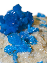 Blue Cavansite crystals.