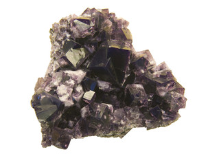 Purple fluorite from Weardale, County Durham, UK. Museum piece.