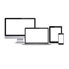Modern monitor, computer, laptop, phone, tablet