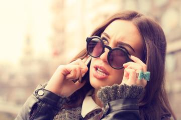 Urban girl on the phone.