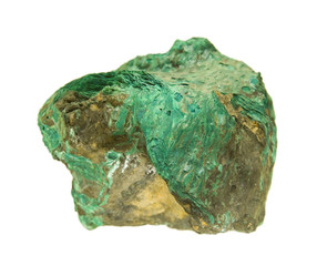 Green lamellar crusts of Atacamite from St. Just in Cornwall, UK