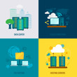 File hosting flat icons composition - 79546785