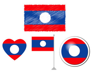 Laos flags