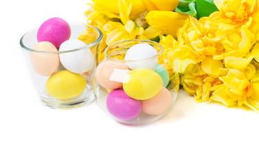 Ostereier im Glas, Osterblumen