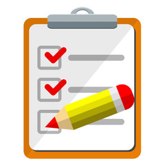 Icono clipboard con checklist