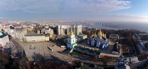St. Michael's Golden-Domed Cathedral in Kiev, Ukraine, aerial vi