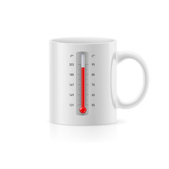 Cup with thermometer