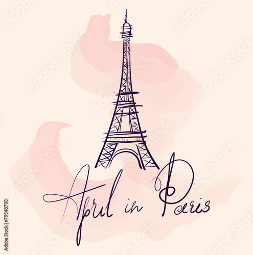 Paris. Vector illustration - 79548708