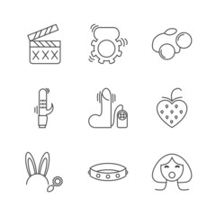 Sex shop icons