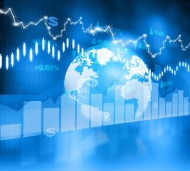 Financial background , stock market chart