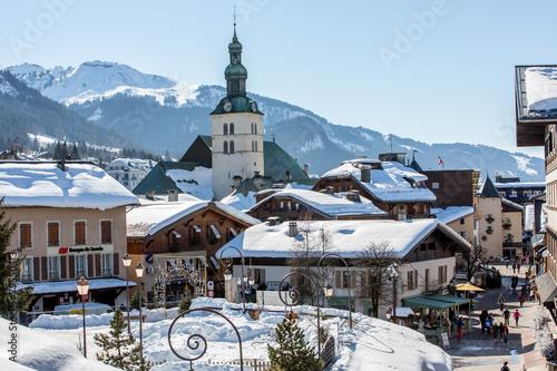 Deurstickers Alpen Megève