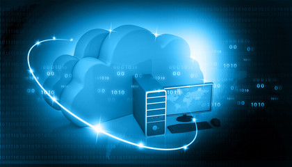 Global Computer network  with cloud computing .