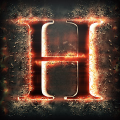 Red light letter H