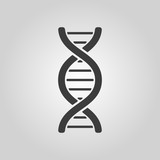 The dna icon. DNA symbol. Flat - 79551736