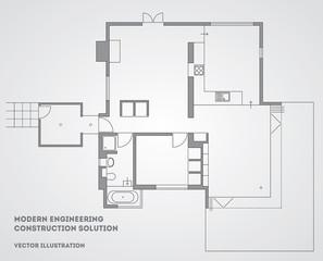 Modern architectural vector background. Eps 10 illustration
