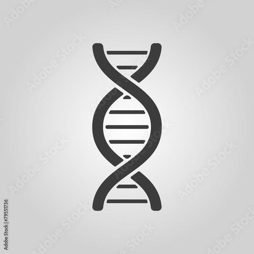 Zdjęcia na płótnie, fototapety, obrazy : The dna icon. DNA symbol. Flat