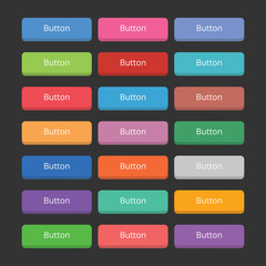 21 Chunky 3d buttons set in various colours