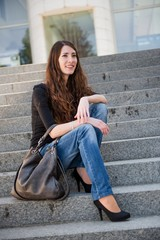 Young woman -  casual fashion outdoor portrait