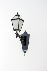 vintage streetlamp casting shadow