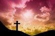 Composite image of wooden cross - 79554980