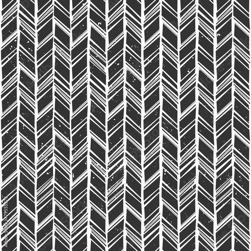 Seamless Chevron Background - 79555376