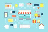 Online shopping, e-marketing.