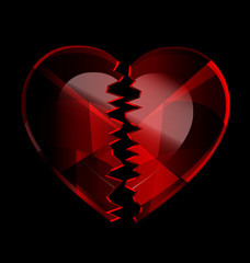 cracked heart-crystal