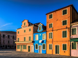 Colorful Houses of Burano in the lagoon of Venice, Italy