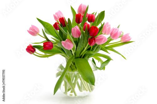 Foto op Canvas Tulp Tulpen in einer Vase
