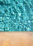 Clean and clear swimming pool water background